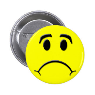 Sad face 2 inch round button