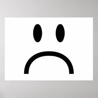 Sad Face Print
