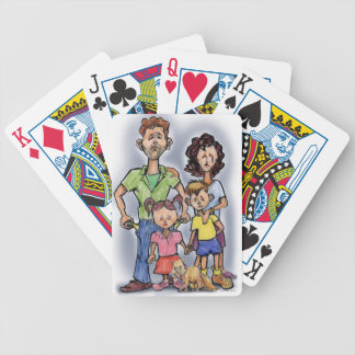 Sad Family Bicycle Playing Cards
