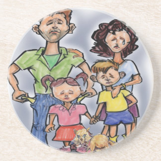Sad Family Coaster