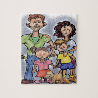 Sad Family Jigsaw Puzzle