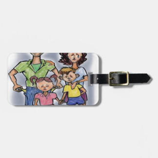 Sad Family Luggage Tag