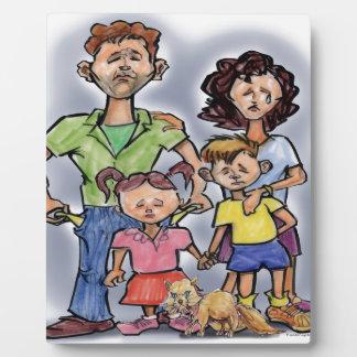 Sad Family Plaque
