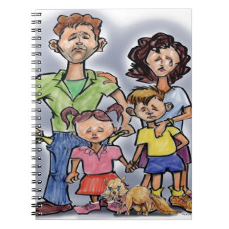 Sad Family Spiral Notebook
