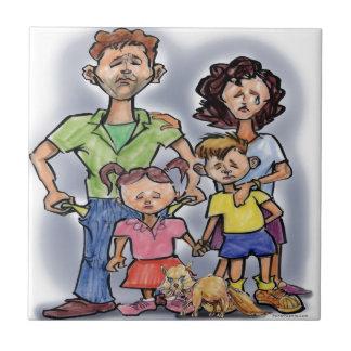 Sad Family Tile