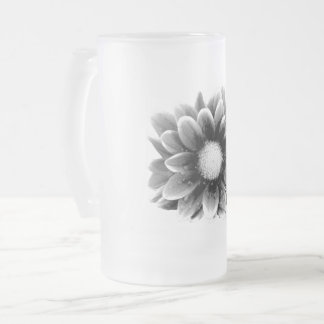 Sad Flower Frosted Glass Beer Mug