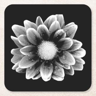 Sad Flower Square Paper Coaster