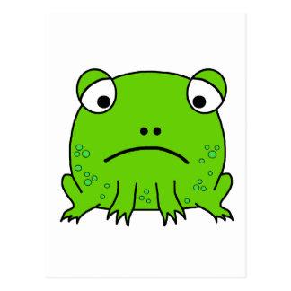 Sad Frog Postcard