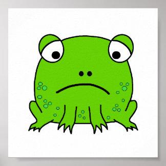 Sad Frog Print