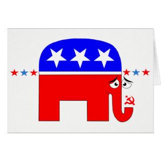 Sad GOP Elephant Card