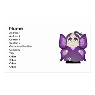 Sad Gothic Fairy In Purple Business Cards