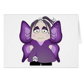 Sad Gothic Fairy In Purple Greeting Card
