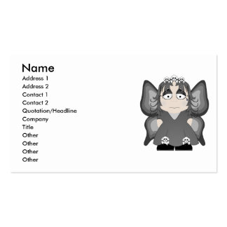 Sad Gothic Princess Fairy Business Card
