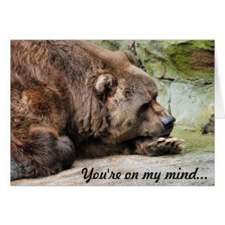 Sad Grizzly Bear Card