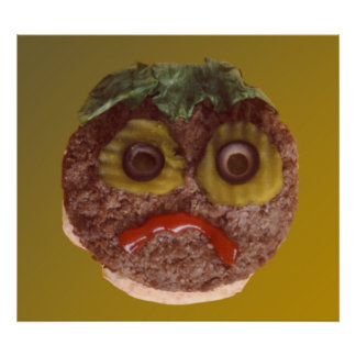 Sad Hamburger Poster