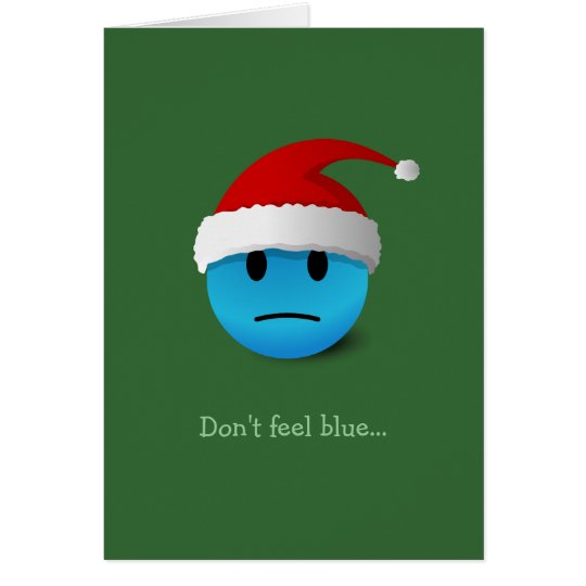 Sad / Happy Face Christmas card