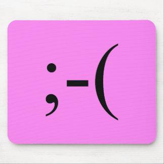 Sad Hot Pink Emoji by Janz Mouse Pad