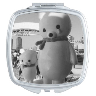 Sad Japanese Bears Travel Mirror