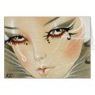 Sad Jester Teardrop Card