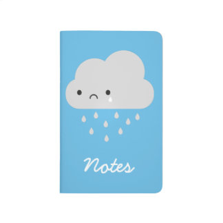 Sad Kawaii Rain Cloud Journal