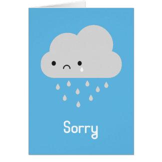 Sad Kawaii Rain Cloud - Sorry Card
