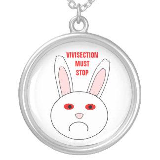 Sad Lab Rabbit Anti Vivisection Necklace