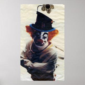 sad little clown poster