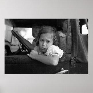 Sad Little Girl, 1938 Poster