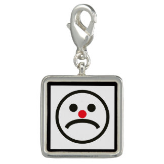 Sad Looking Face with Cheeky Red Nose Charm