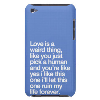 Sad love quote iPod Case-Mate case