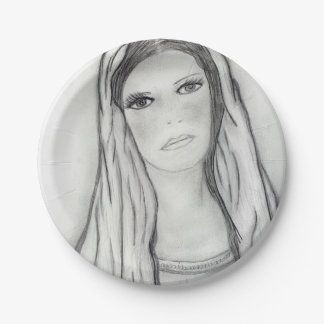Sad Mary 7 Inch Paper Plate