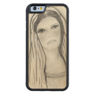 Sad Mary Carved Maple iPhone 6 Bumper Case