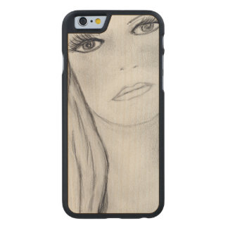 Sad Mary Carved Maple iPhone 6 Case