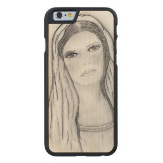 Sad Mary Carved® Maple iPhone 6 Slim Case