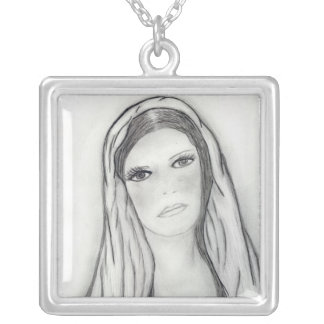 Sad Mary Silver Plated Necklace