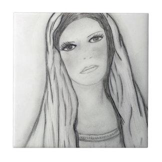 Sad Mary Tile