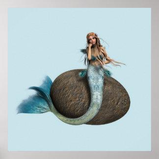 Sad Mermaid Poster
