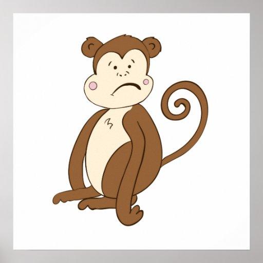 Sad Monkey Print