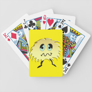 sad monster bicycle playing cards