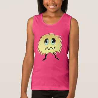 sad monster tank top