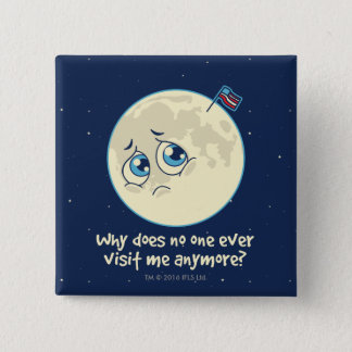 Sad Moon 2 Inch Square Button