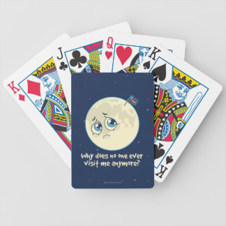 Sad Moon Bicycle Playing Cards