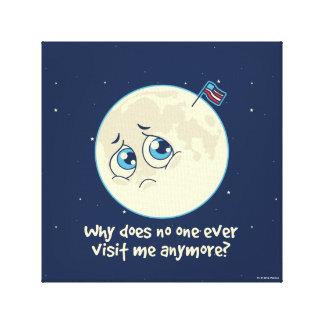 Sad Moon Canvas Print
