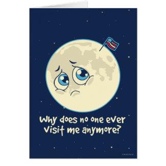 Sad Moon Card