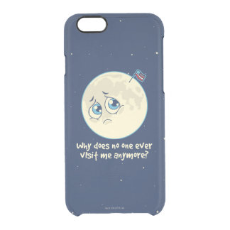 Sad Moon Clear iPhone 6/6S Case