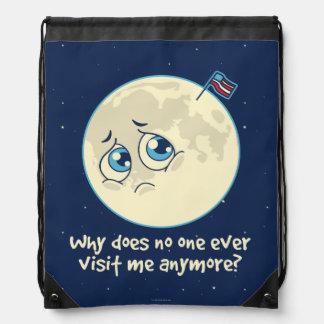 Sad Moon Drawstring Bag
