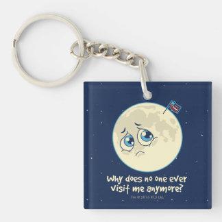 Sad Moon Keychain