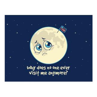 Sad Moon Postcard