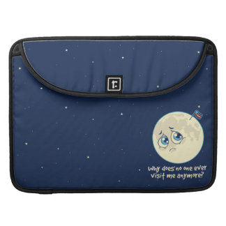 Sad Moon Sleeve For MacBook Pro