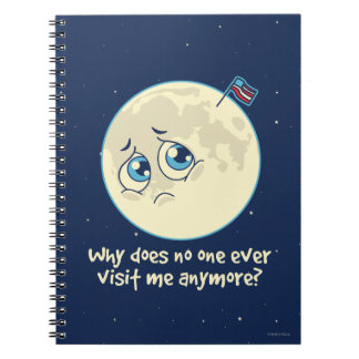 Sad Moon Spiral Note Books